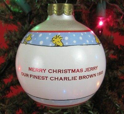 Personalized Ornament JERRY Hallmark Peanuts 1993 Glass Ball Charlie Brown NoBox