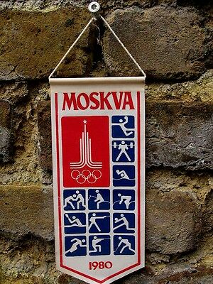 Olympic Games Moscow 1980,  Banner with The Games Official Logo.