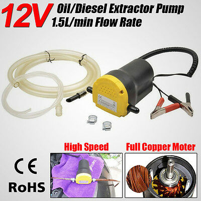 12V 60W Oil Extractor Pump/Diesel Fluid Extractor Siphon Pump For Car Bike Boat