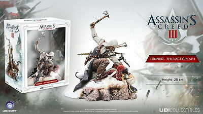 ASSASSINS CREED 3 CONNOR The Last Breath 28cm PVC Statue NEU+OVP Ubi Collectible