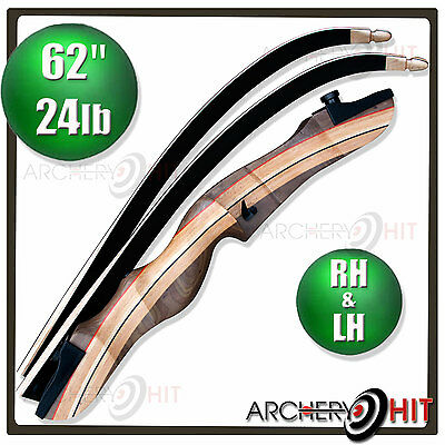 Wooden Recurve Bow 62 Inch Archery Package
