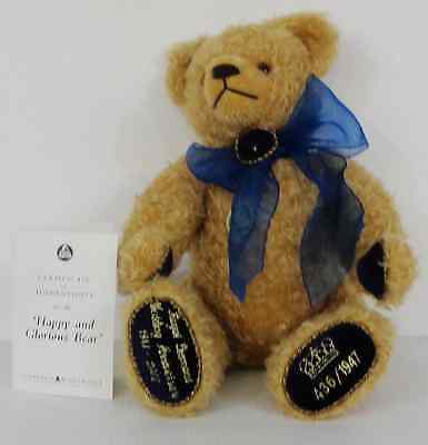 Hermann Mohair Bear Royal Diamond Wedding Anniversary Limited Edition