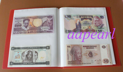 New Paper Money Album Holders World Banknotes Collection book 10Pages 40pockets