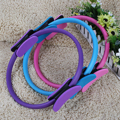 "14"" Magic GYM Pilates Yoga Ring Exercise Grip Resistance Fitness Circles"