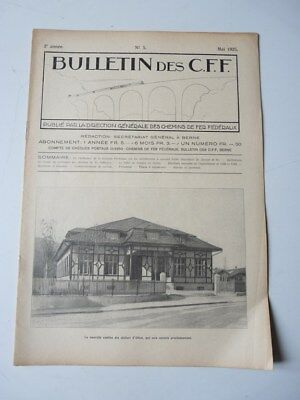 Bulletin Des CFF N°5 Mai 1925 Magazine Train miniature (25385)