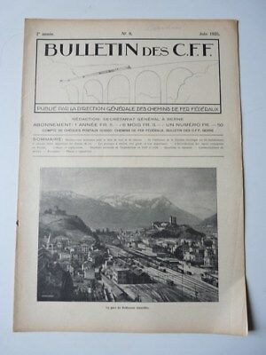 Bulletin Des CFF N°6 Juin 1925 Magazine Train miniature (25386)