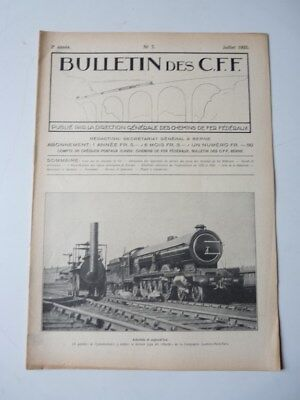 Bulletin Des CFF N°7 Juillet 1925 Magazine Train miniature (25387)