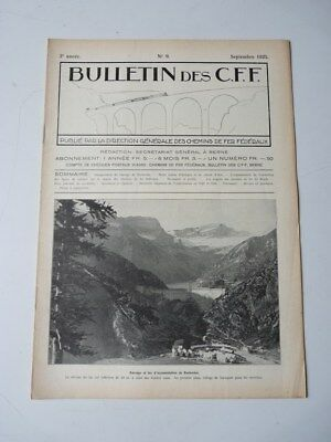 Bulletin Des CFF N°9 Septembre 1925 Magazine Train miniature (25389)