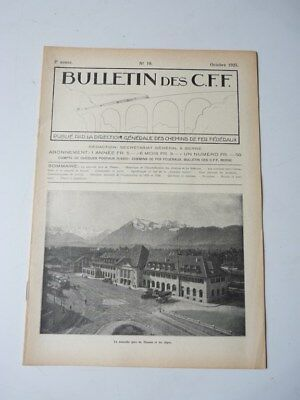 Bulletin Des CFF N°10 Octobre 1925 Magazine Train miniature (25390)