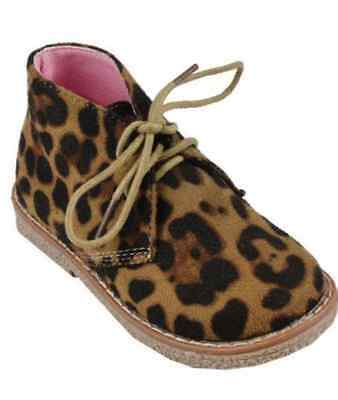 New Girls Leopard Print Ankle Boots Size 6 7 8 9 10 11 12