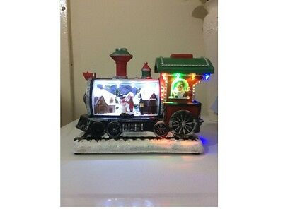 New  Led Christmas Train with Revolveing Character Ornament Xmas Decoration
