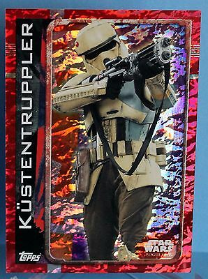 Topps Star Wars Rogue One Glitzer / Foil Karte Nr.185 Küstentruppler