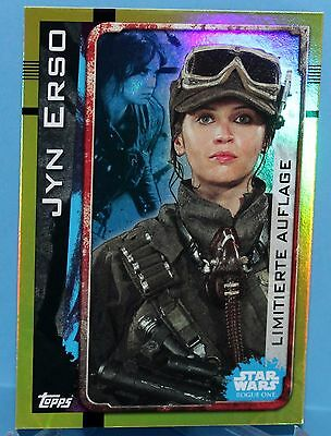 Topps Star Wars Rogue One - Limitierte Auflage Nr.LESA - Jyn Erso