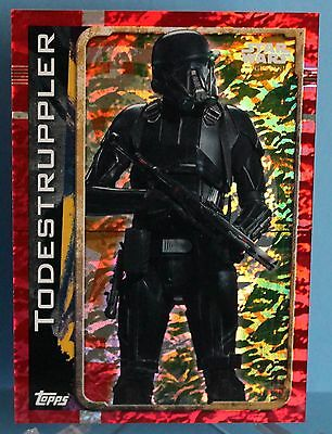 Topps Star Wars Rogue One Glitzer / Foil Karte Nr.176 Todestruppler
