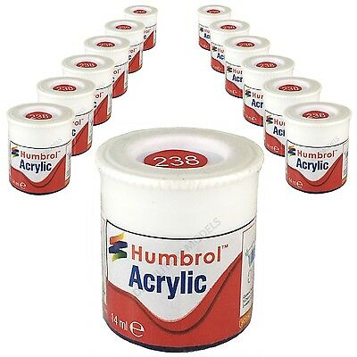 12 x Humbrol Acrylic Paints (12ml) Choose your Colours - HU001 - HU253