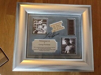 "George Foreman Ltd Edition  hand signed Boxing Films Ali  ""Rumble In The jungle"""