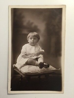Vintage Postcard - RP Anonymous People - Boy #2 Canning Town 1923