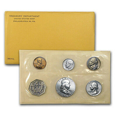 1961 United States Mint Proof 5 Piece set 90% Silver -- Free Shipping