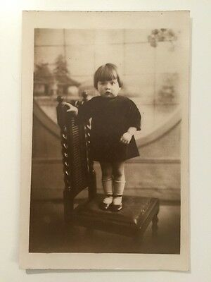 Vintage Postcard - RP Anonymous People - Girl #34 Gale's Studios 1928