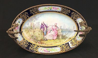 Very Large Sevres Centerpiece With Bronze Workmanship and Details