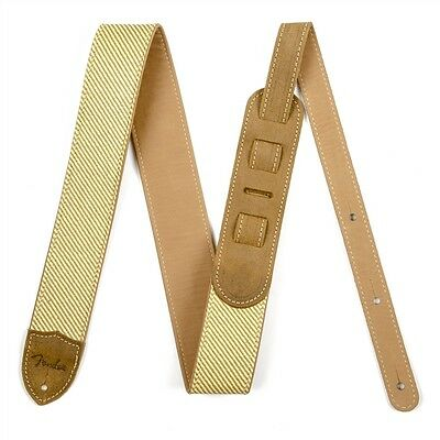 """Fender Guitar Strap 2"""" Deluxe Tweed & Leather for Electric or Acoustic"""