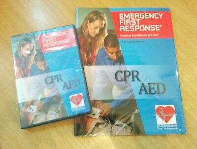Emergency First Response Manual + DVD, CPR & AED First Aid.
