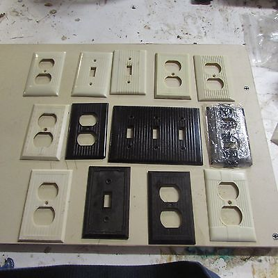 vintage lot of switch & outlet cover plates - Bakelite