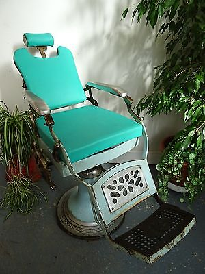 Green Vintage Barber Chair
