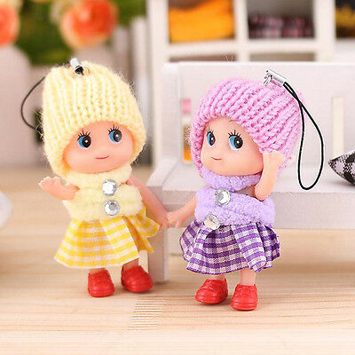 Cute Kids Toys Soft Interactive Baby Dolls Toy Mini Doll For Keychain Girl Gift~
