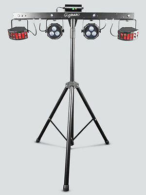 Chauvet GIG BAR 2.0 4-in-1 light with stand and wireless footswitch plus UV