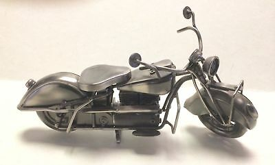 Vintage All Metal Detailed Replica of a Motorcycle Display Quality