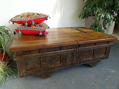 Rajasthan Wooden Chest 130cm Wide  Indian Chest Coffee Table Box     B1