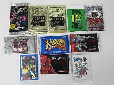 Marvel Sealed Card Packs Lot Of 11-Masterpieces X-Men-Silver Surfer-Universe +