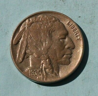 1930 Buffalo Nickel, Solid  BU ** Free Shipping!   *VERY NICE*