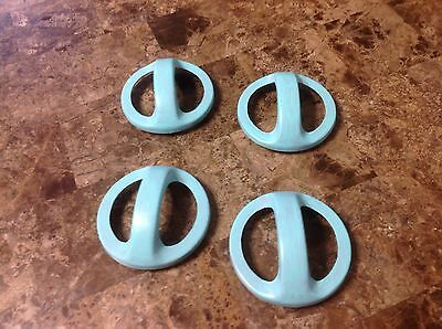 040 Art Deco Turquoise Wash Handles Four Available