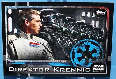 Topps Star Wars Rogue One Karte Nr.22 Direktor Krennic