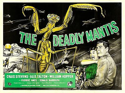 """The Deadly Mantis 16"""" x 12"""" Reproduction Film Poster Photograph 2"""
