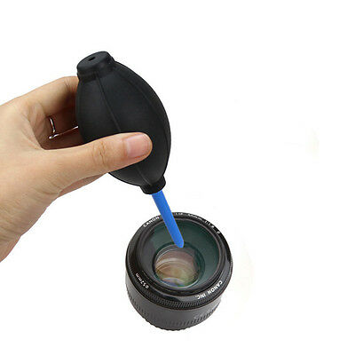 3 In 1 Lens Cleaning Kit Cleaner Set Brush Blower Cloth For DSLR VCR Camera