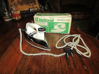 Vintage 1960s Clothes Iron NATIONAL NI-001A (with original box)