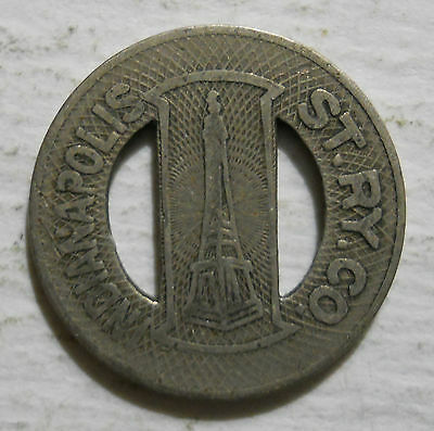 `Indianapolis Street Railway Company (Indiana) transit token - IN460D