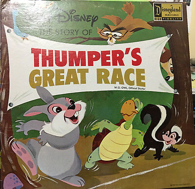 Vinyl Record Walt Disney the story of Thumper's Great Race 1963           93