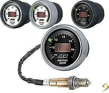 AEM Wideband O2 Air Fuel Ratio Kit AFR UEGO Gauge - 30-4110
