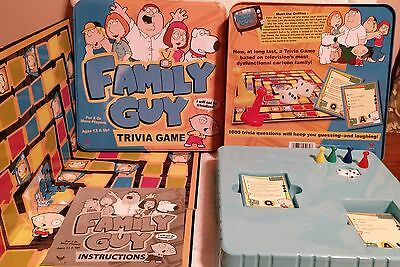2005 Family Guy Trivia Game in Collectors Tin