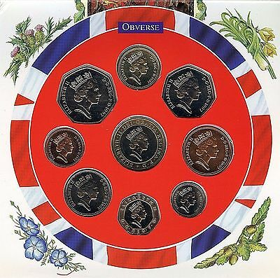 1997 UK Great Britain Royal Mint Brillian 9 Coin Set