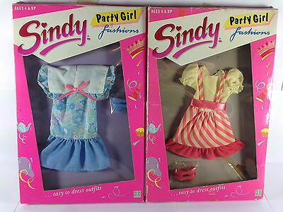 SINDY LOT OF 2 PARTY GIRL FASHIONS OUTFIT BARBIE Doll HASBRO 1988 Ultra Rare