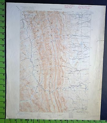 Lewis and Clark National Forest Montana 1922 Antique USGS Topographic Map 16x20