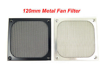 120mm Metal Case Fan Air Filter Dustproof Mesh Grill Guard , Black & Silver