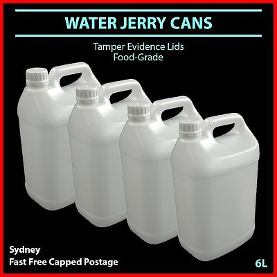 6L Water Jerry Can Plastic Food Grade Camping Petrol Fuel Liquid White Bulk