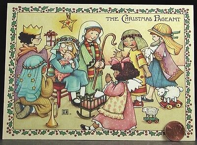 MARY ENGELBREIT Christmas Pageant Nativity Jesus Lamb Kids Greeting Card NEW