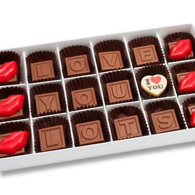 New Love You Lots Hot Lips chocogram gifts him her christmas